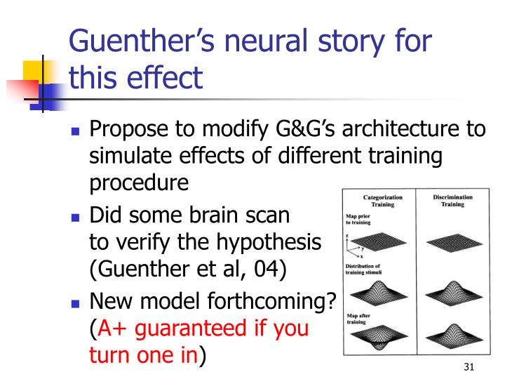 Guenther's neural story for this effect