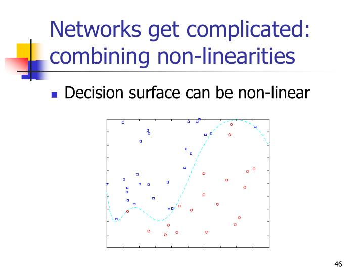 Networks get complicated: combining non-linearities