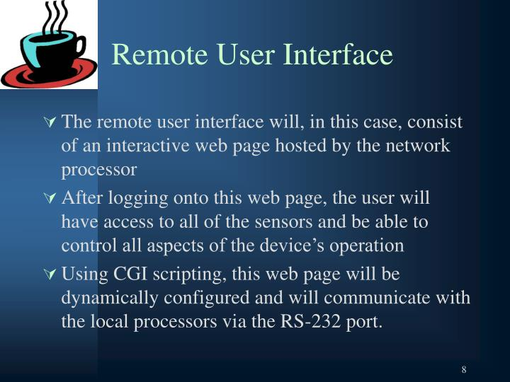 Remote User Interface