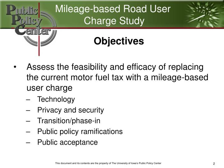 Mileage-based Road User