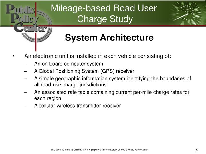 Mileage-based Road User