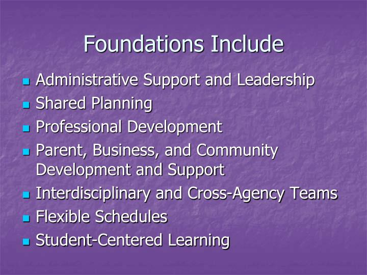 Foundations Include