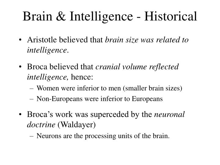 Brain & Intelligence - Historical