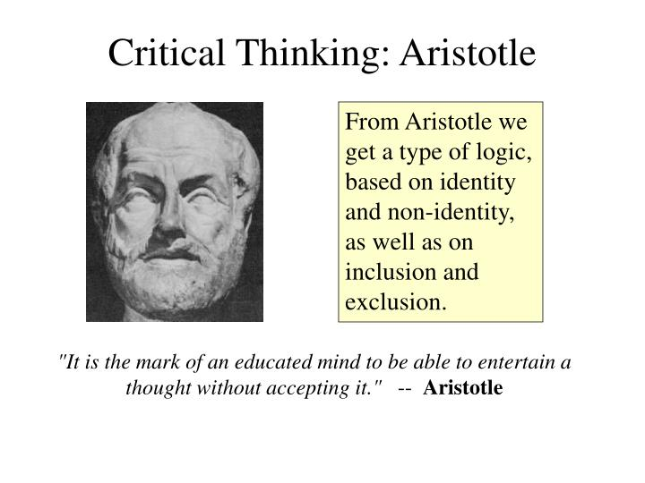 Critical Thinking: Aristotle