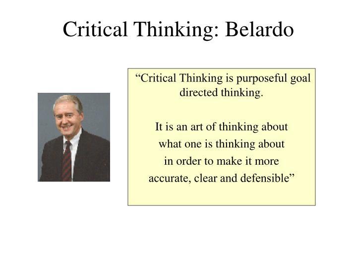 Critical Thinking: Belardo