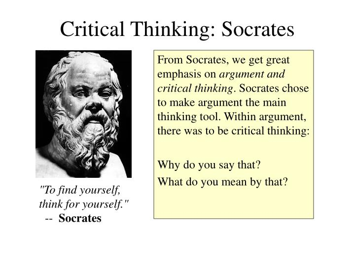 Critical Thinking: Socrates