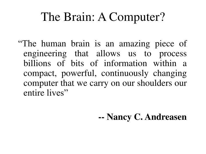 The Brain: A Computer?