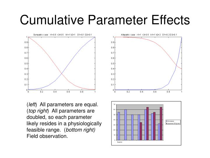 Cumulative Parameter Effects