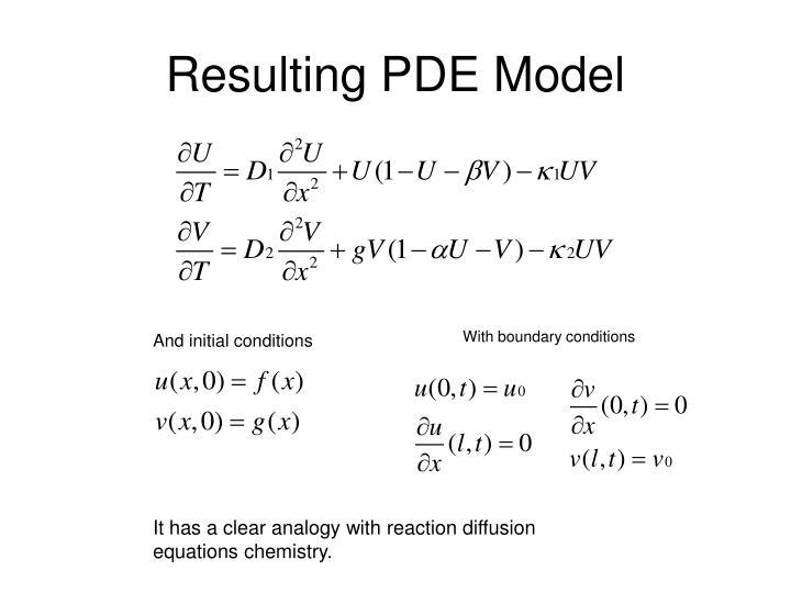 Resulting PDE Model
