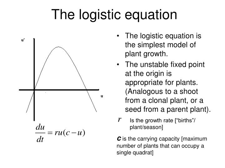 The logistic equation is the simplest model of plant growth.