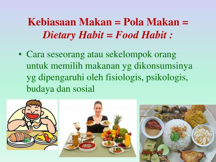 Kebiasaan Makan = Pola Makan =