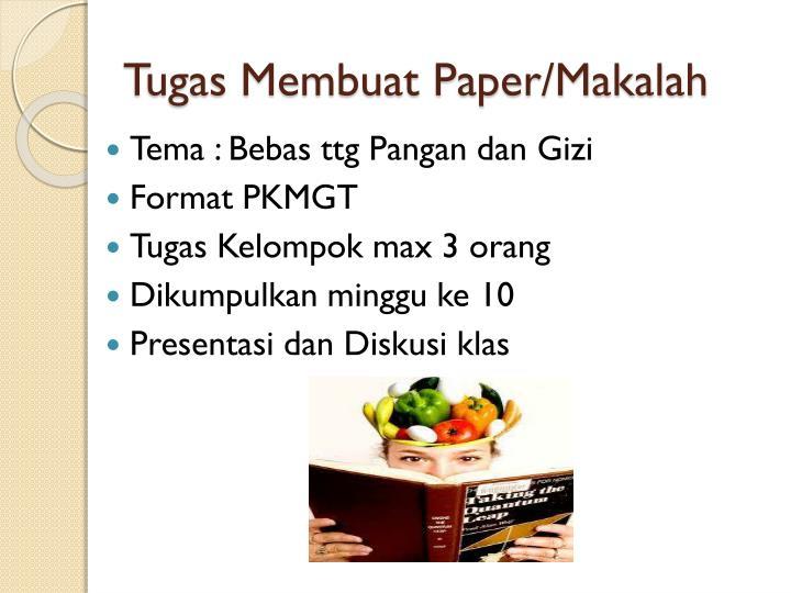 Tugas Membuat Paper/Makalah
