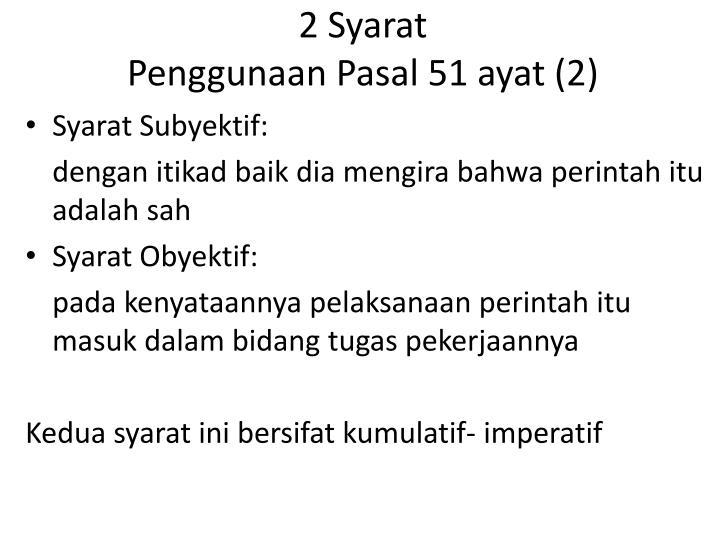 2 Syarat