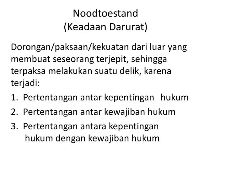 Noodtoestand
