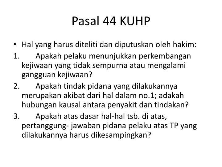 Pasal 44 KUHP