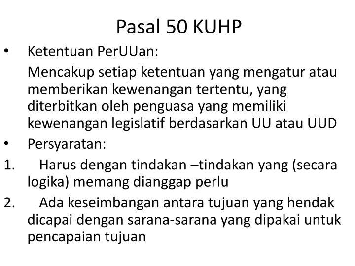 Pasal 50 KUHP