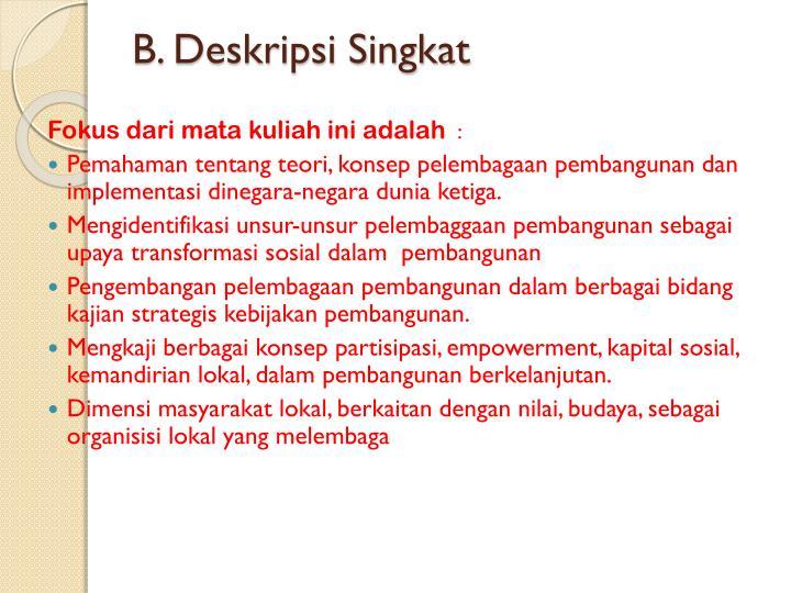 B. Deskripsi Singkat