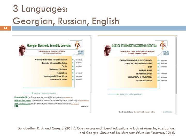 3 Languages: