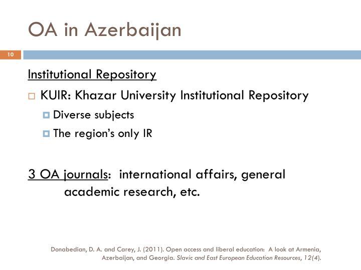 OA in Azerbaijan