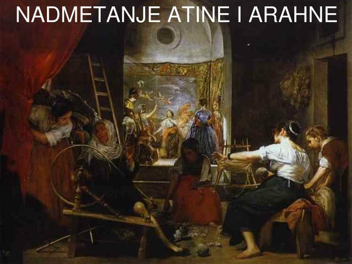 NADMETANJE ATINE I ARAHNE