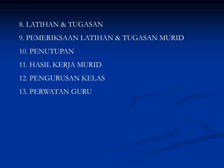 8. LATIHAN & TUGASAN