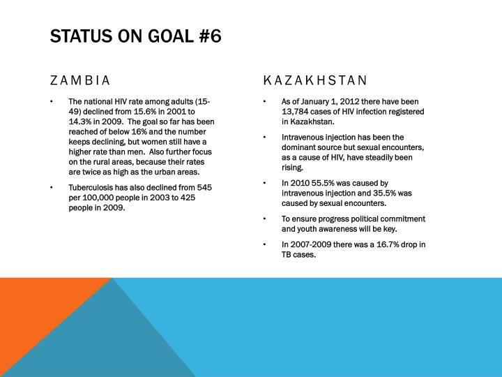 Status on goal