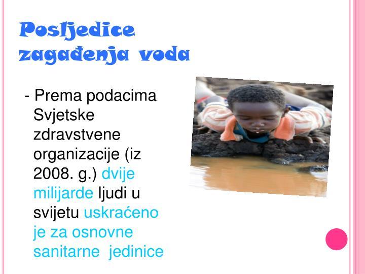 Posljedice zagađenja voda