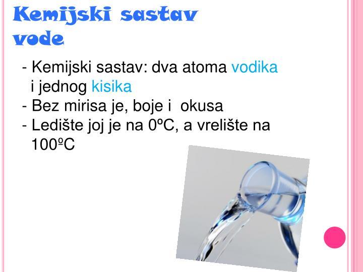 Kemijski sastav vode