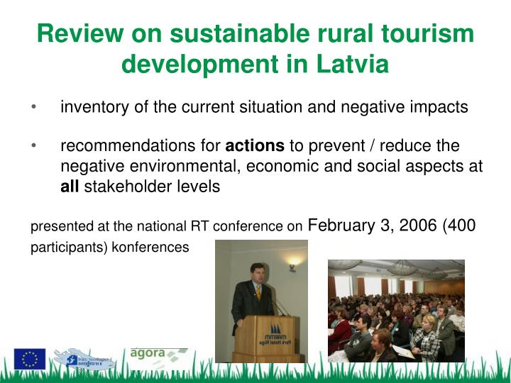 Review on sustainable rural tourism development in latvia