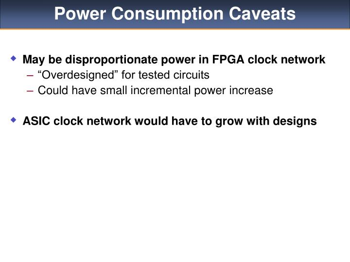 Power Consumption Caveats