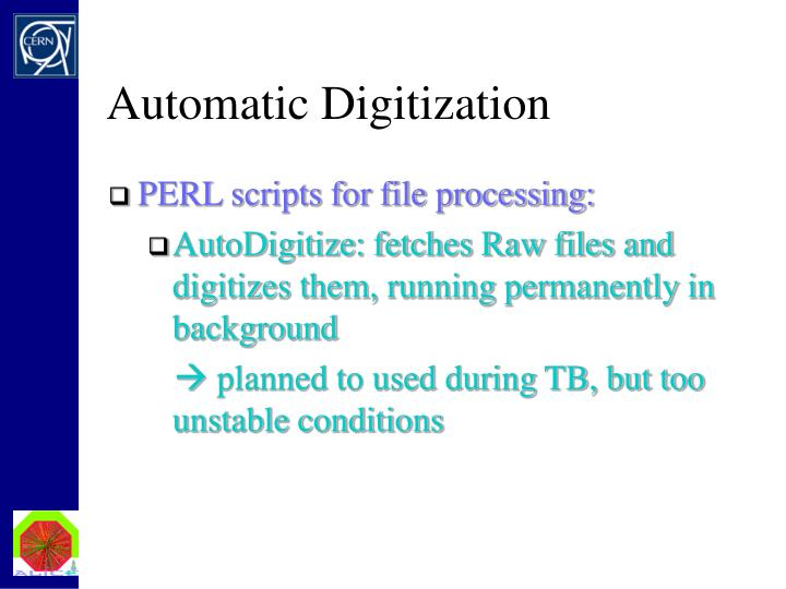 Automatic Digitization