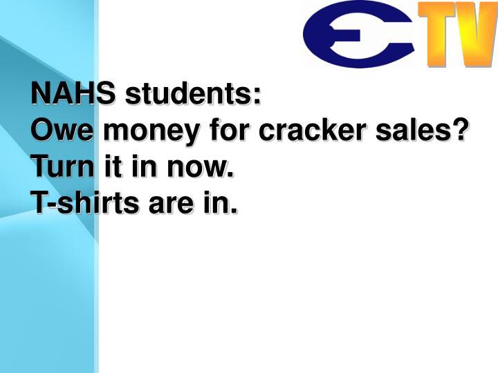 NAHS students: