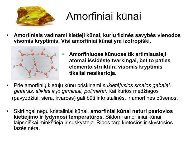 Amorfiniai kūnai