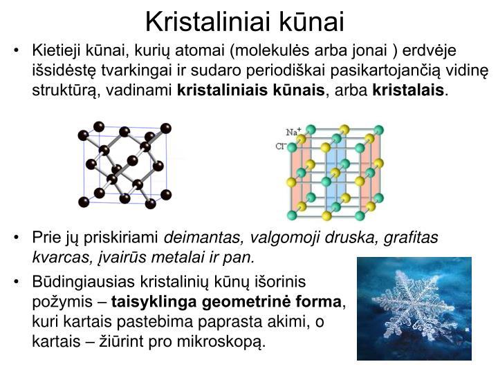 Kristaliniai kūnai