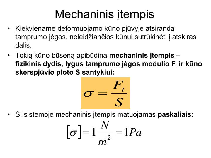 Mechaninis įtempis