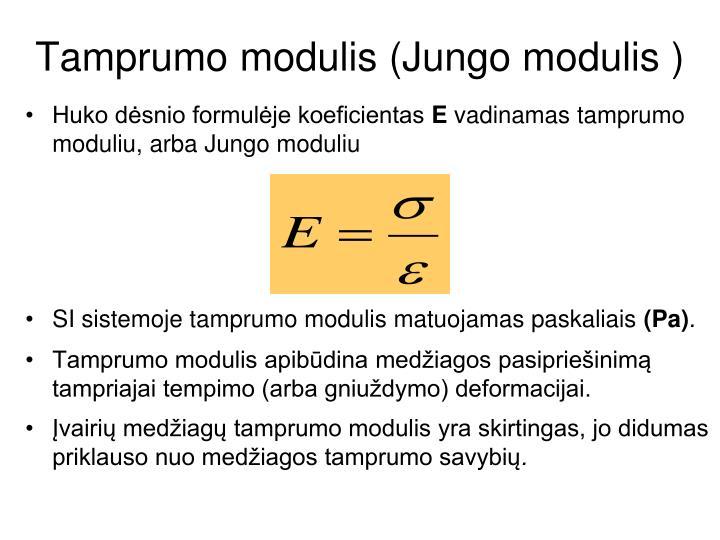 Tamprumo modulis