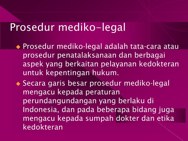 Prosedur mediko-legal