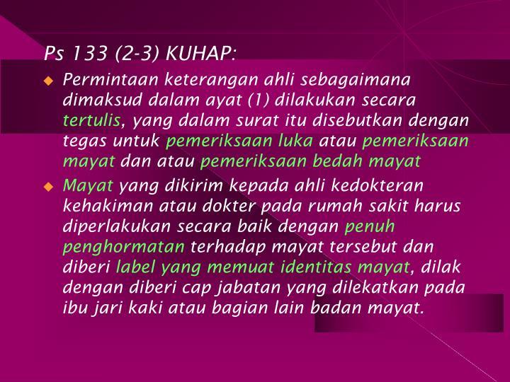 Ps 133 (2-3) KUHAP: