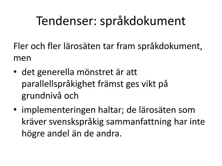 Tendenser: språkdokument