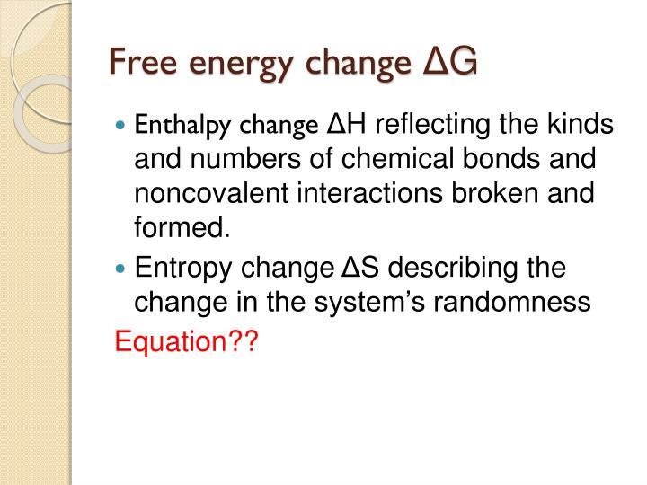 Free energy change