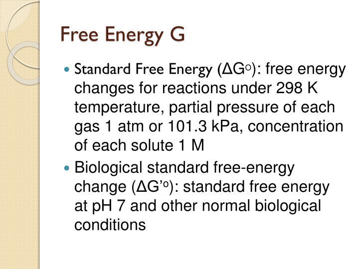 Free Energy G