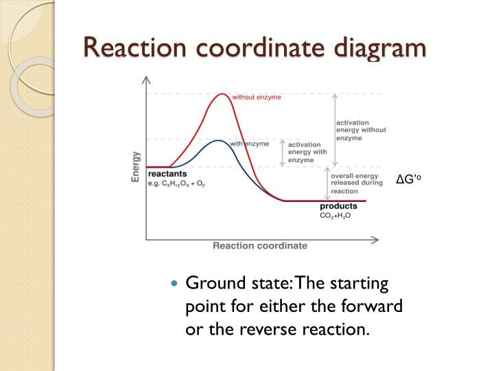 Reaction coordinate diagram