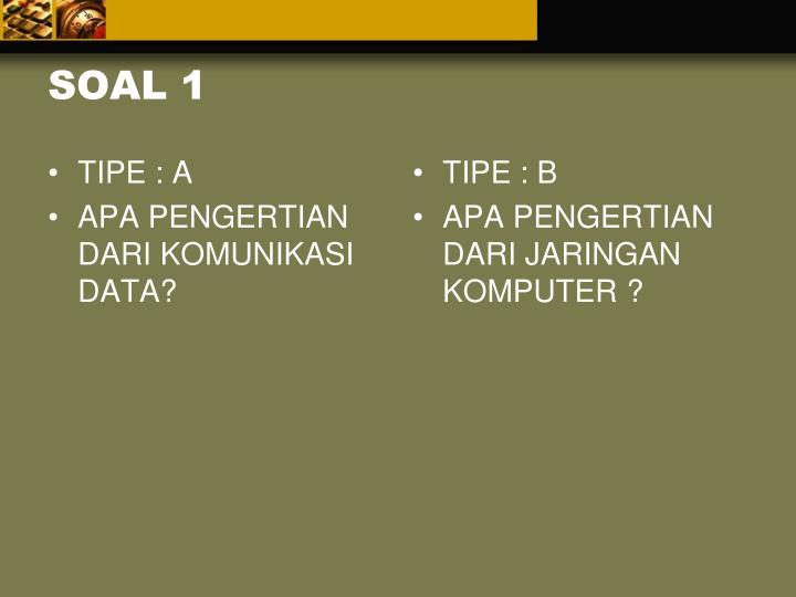 TIPE : A