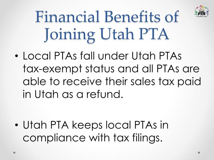 Financial Benefits of Joining Utah PTA