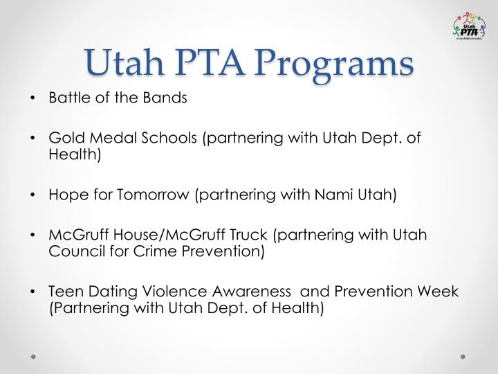 Utah PTA Programs