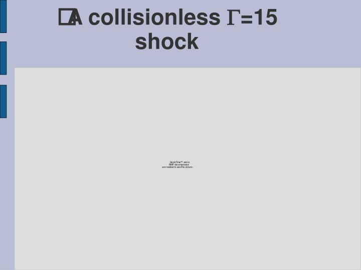 A collisionless