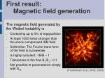first result magnetic field generation