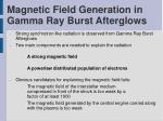 magnetic field generation in gamma ray burst afterglows