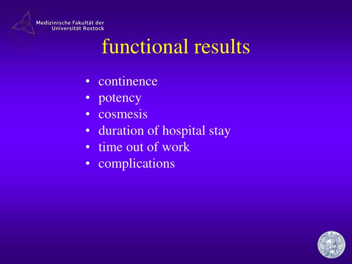 functional results