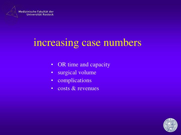 increasing case numbers
